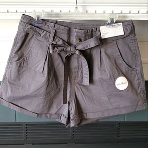 Brand New High Rise Belted Gray Shorts 13 J